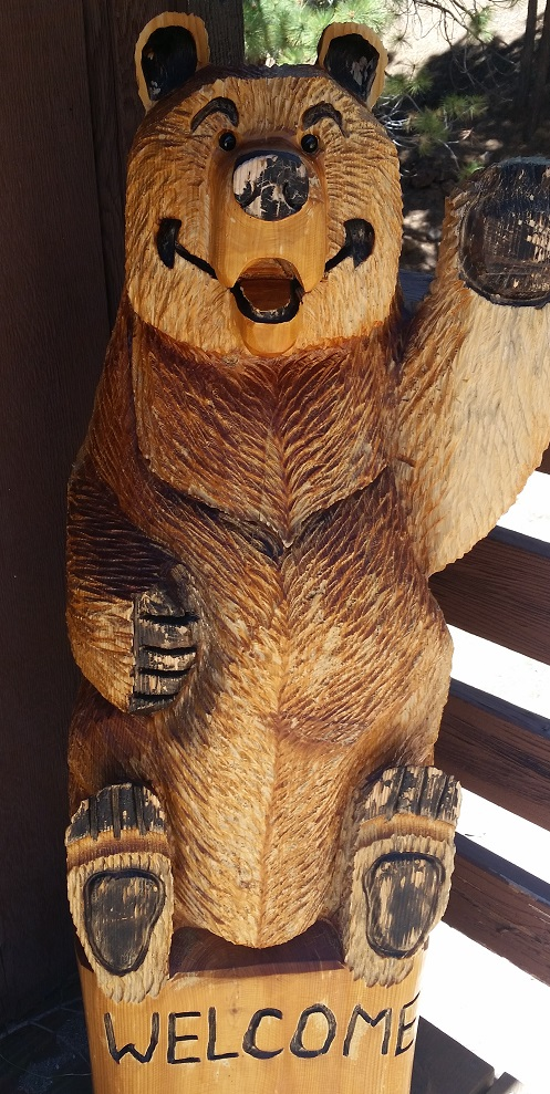 Annie the bear welcomes all my guests.