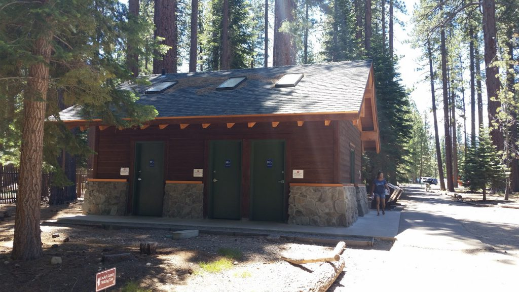 Baldwin Beach restrooms South Lake Tahoe Beaches