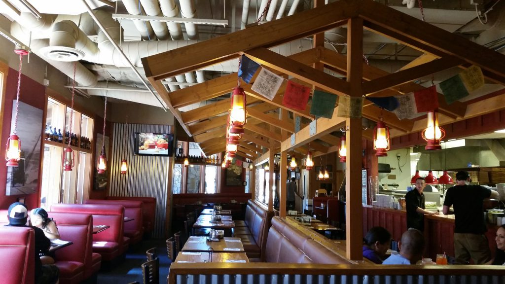 Best Pizza in Lake Tahoe - Base Camp indoor seating