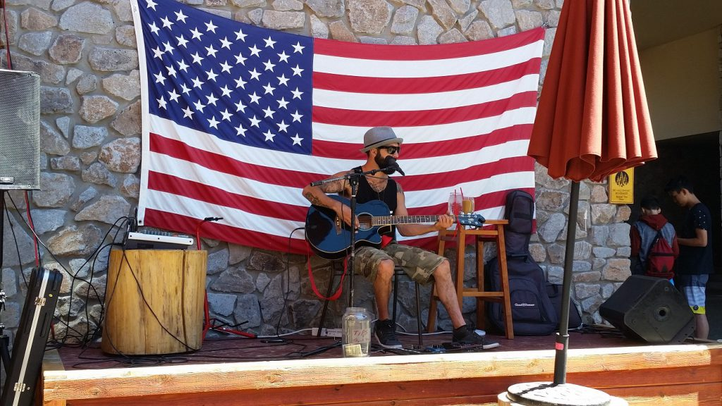 Best Pizza in Lake Tahoe - Base Camp live music - Mike Smith