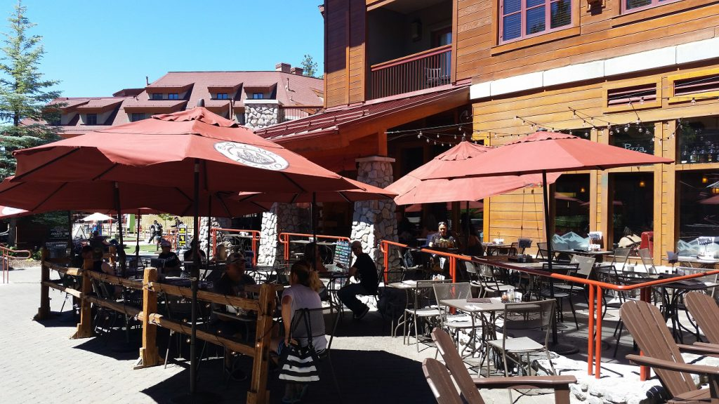 Best Pizza in Lake Tahoe - Base Camp outdoor seating