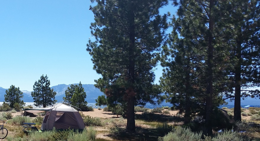 Nevada Beach - tent site