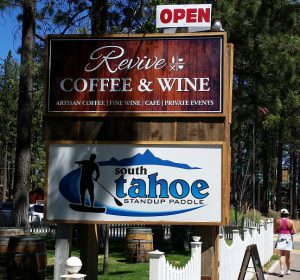 Revive Coffee & Wine - sign