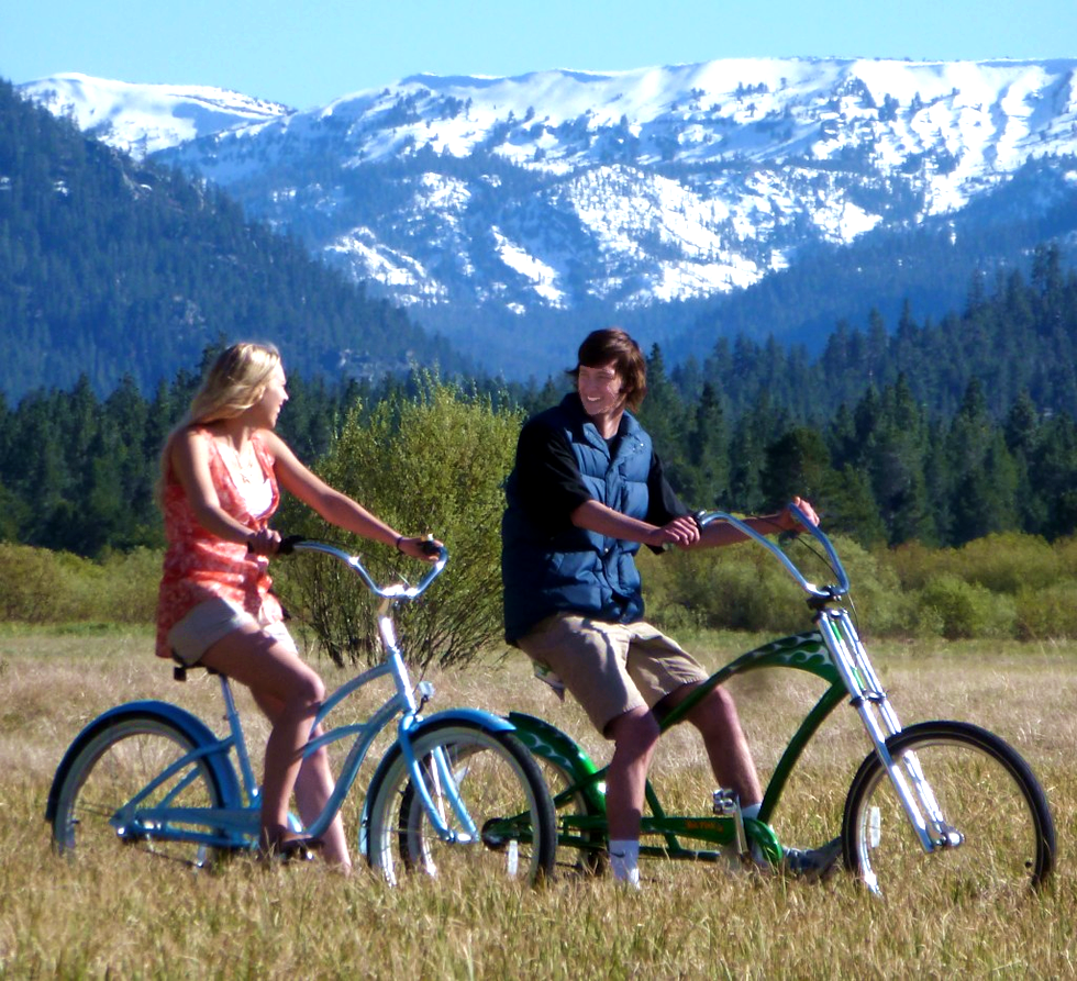 lake tahoe bike rentals view